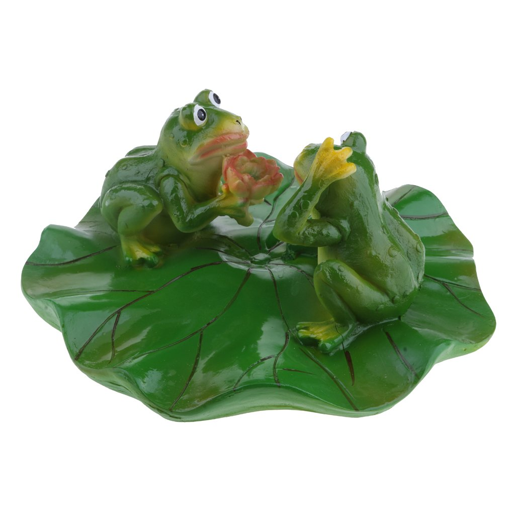 MagiDeal 6 Type True to Nature Water Floating Ornament Pond Lily Lotus Leaf Frog Garden Pond Fishpond Summer Swimming Pool Decor - Dating, as described