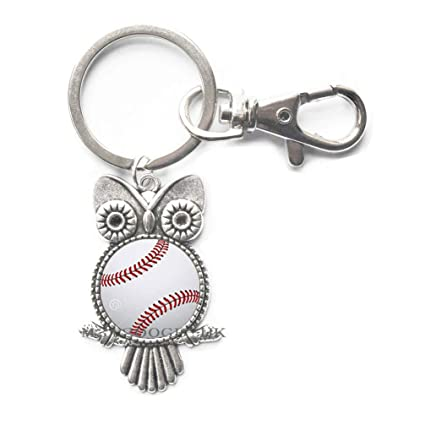 Llavero de béisbol, béisbol, búho llavero, béisbol, juguete ...