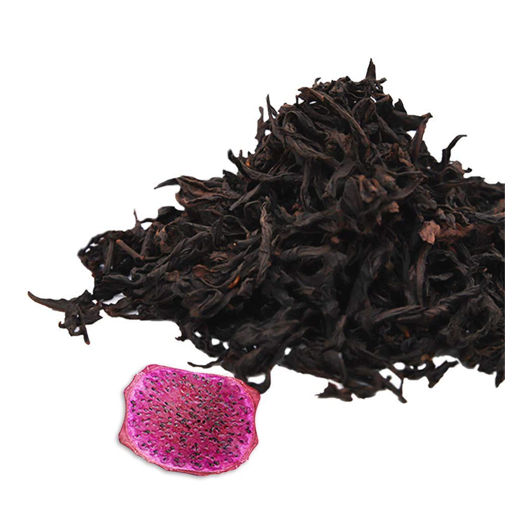 Assorted Size Da Hong Po Loose Leave Oolong Tea with 5 Random Dried Fruits (16oz)