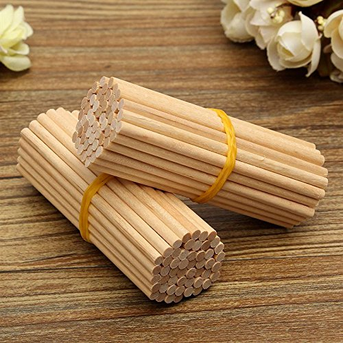 Wooden Round Lollipop Lolly Sticks 100Pcs/Pack 80mm Cake Dowels For DIY Food Crafts Candy Decor Rod Party Events Decoration (Lolly Candy Craft)