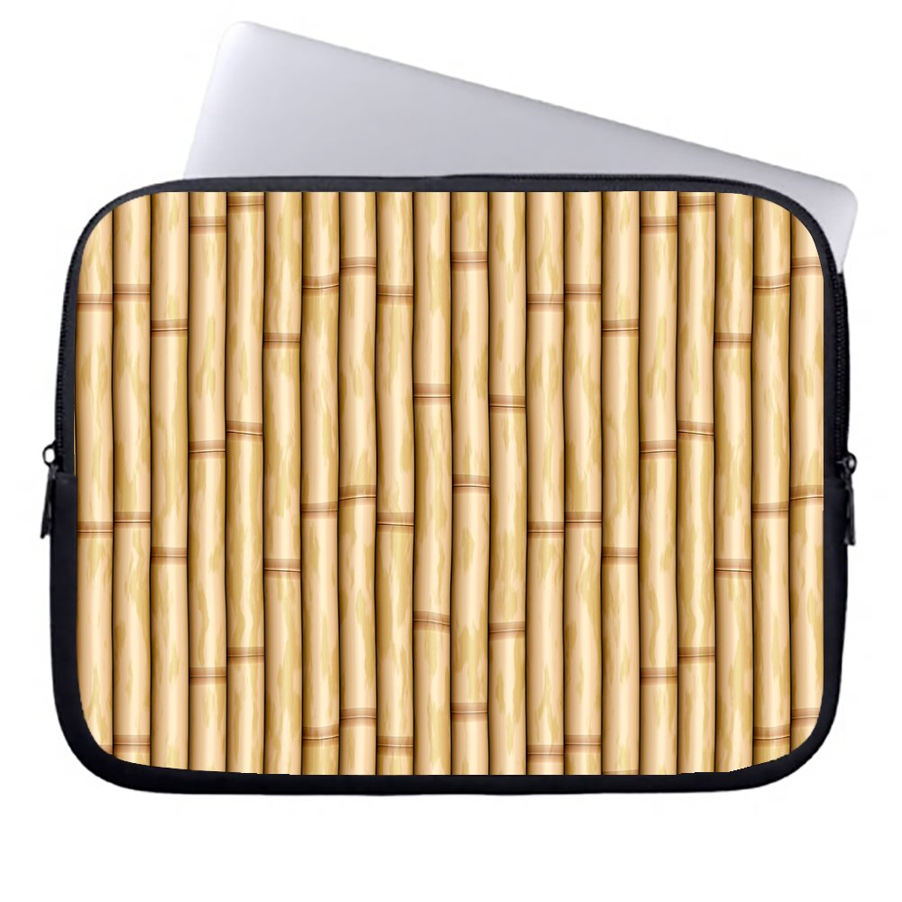 okoukiu pared de bambú con cremallera funda de neopreno blanda funda blanda neopreno para portátil maletín bolso Sleeve case bolsa para ordenador portátil Chromebook & macbook air 1 12-12.5 inches 35d54b