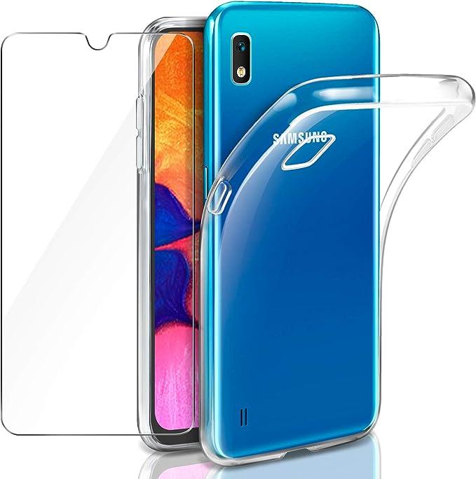 Leathlux Samsung Galaxy A10 Funda + Cristal Protector de Pantalla ...