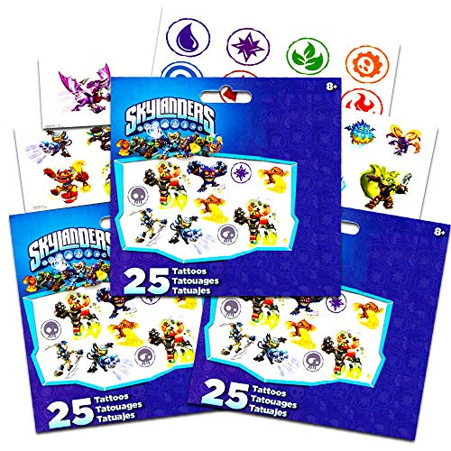 Skylanders Giants Swap Force Temporary Tattoos 75 ct. -