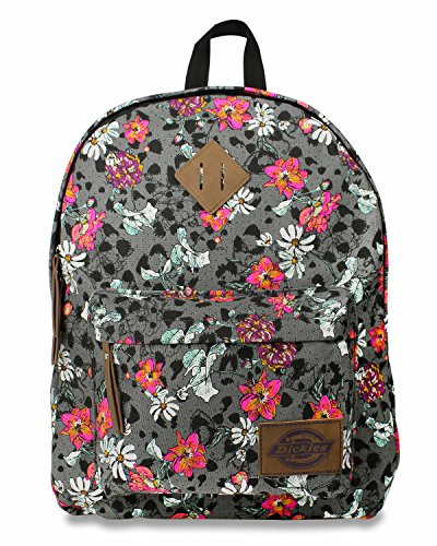Dickies Cotton Canvas Classic Backpack, Floral Cheetah Stamp - Floral Cheetah