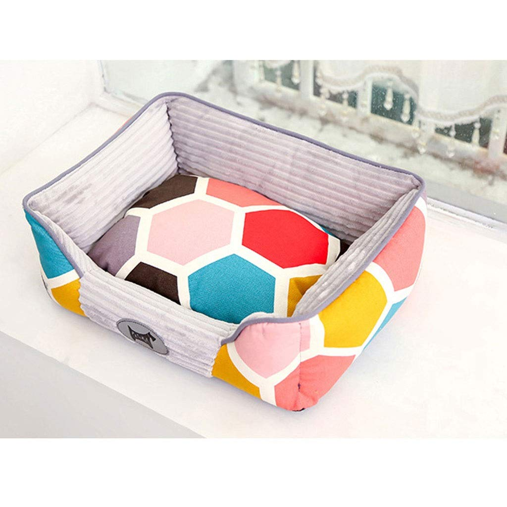 C Small C Small Barry-L Dog Bed Cat Bed Pet Nest Four Seasons Universal Dog Supplies Cat Litter Labrador Teddy Removable Dog Kennel Sofa Bed Pet Bed (color   C, Size   S)