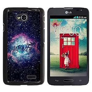 Be Good Phone Accessory // Dura Cáscara cubierta Protectora Caso Carcasa Funda de Protección para LG Optimus L70 / LS620 / D325 / MS323 // Universe Cosmos Text Awe Inspiring