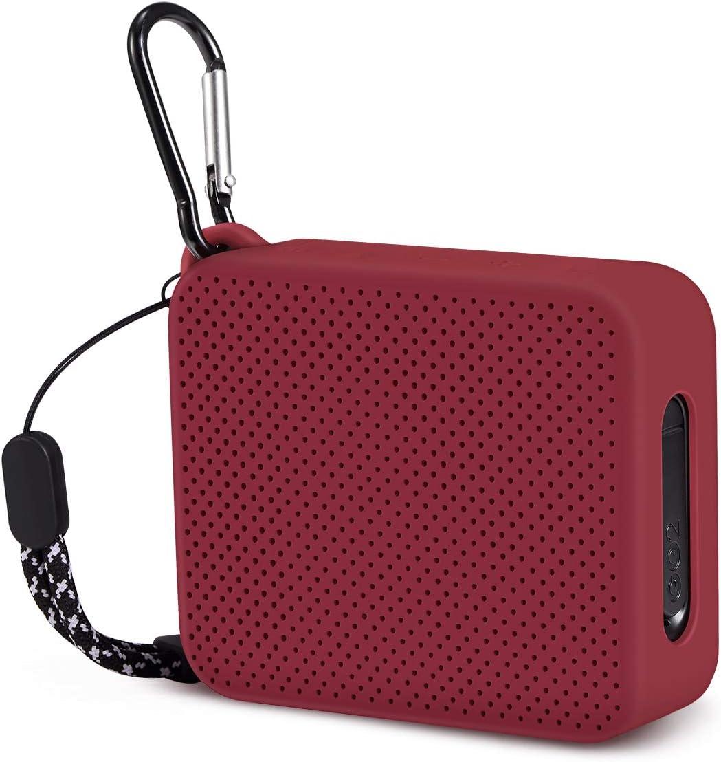 Estuche De Silicona Para Altavoz Bluetooth Jbl Go2-Rojo