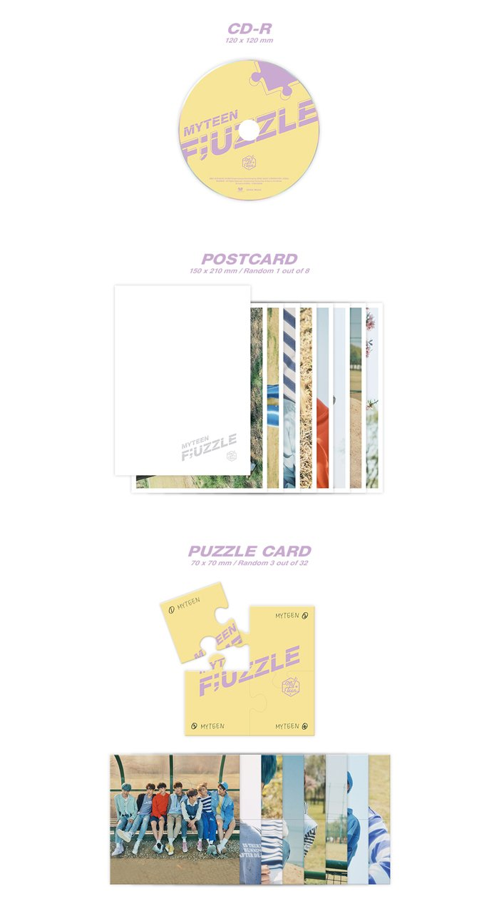 MY TEEN [F;UZZLE] 2nd Mini Album Random CD+Poster+PhotoBook+Tracking NumberCD+PhotoBook+PhotoCard+PuzzleCard+PostCard+NameSticker by MY TEEN [F;UZZLE] 2nd Mini Album Random CD+Poster