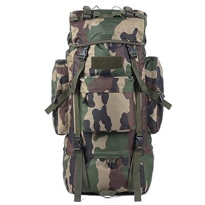 sac à dos randonnée package d'escalade en plein air bag sac de Voyage étanche 65L de l'épaule des hommes et des femmes Sacs à dos de randonnée ( Couleur : Camo , taille : 65L )
