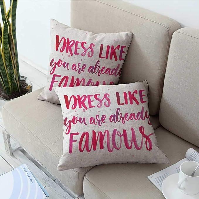 Amazon.com: warmfamily Square Pillowcase Inspirational ...