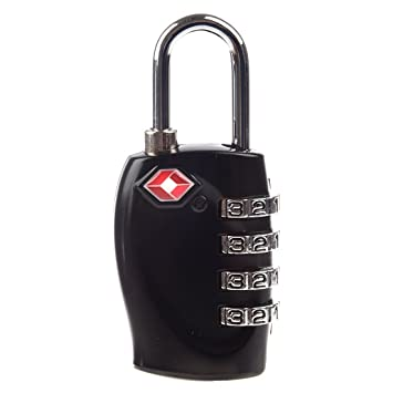 SODIAL(R) Negro 4 Digito TSA Candado de Combinacion para Maletas Equipaje: Amazon.es: Equipaje