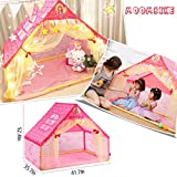 Moombike Princess Pretend Play House Play Tent Toy for Girl Kids Indoor and Outdoor Playing Reading