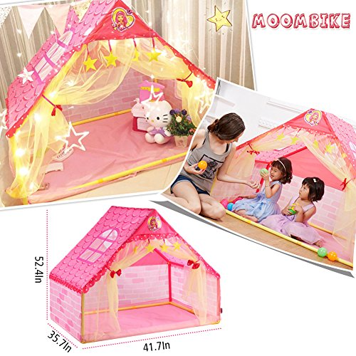 Moombike Princess Pretend Play House Play Tent Toy for Girl Kids Indoor and Outdoor Playing Reading Review