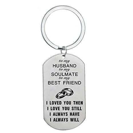 BESPMOSP Best Friend Husband Wife Love Keychain Family Keyring Wedding Birthday Jewelry to My Husband