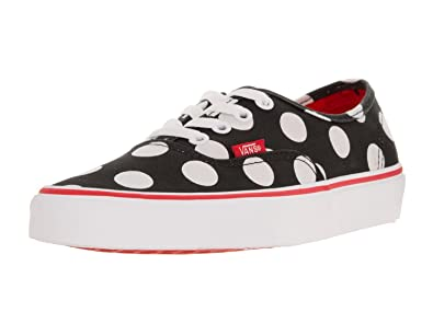 36315e980a Image Unavailable. Image not available for. Color  Vans Authentic Polka Dot  Black Fiery Red Women s Skate Shoes ...