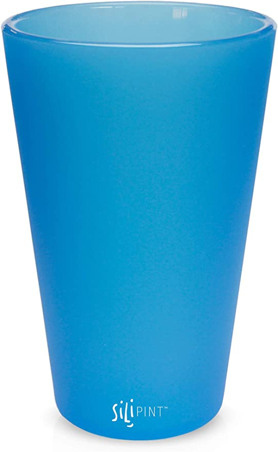 Silipint Silicone Pint Glass Set 2-Pack, Mountain Marble Shatter-proof Unbreakable Silicone Cup Drinkware Patented