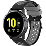 Fit for Samsung Galaxy Watch Active 2 40mm/ 44mm Watch Bands, Garmin Vivoactive 3 Music Bands, 20mm Quick Release Silicone Band Straps Wristbands for Galaxy Watch 42mm Women Men (Gray)