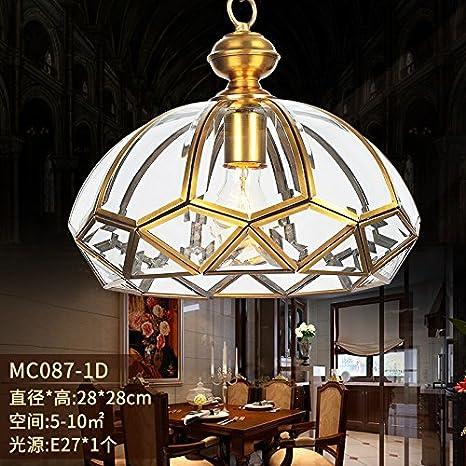 Cada Camera de cobre lámpara dormitorio lámpara luz en la ...