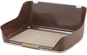 NGW Indoor Dog Toilet Three-Sided Fence Dog Training Trays Square Grid Splash for Outdoor Garden Lawn Patio Balcony