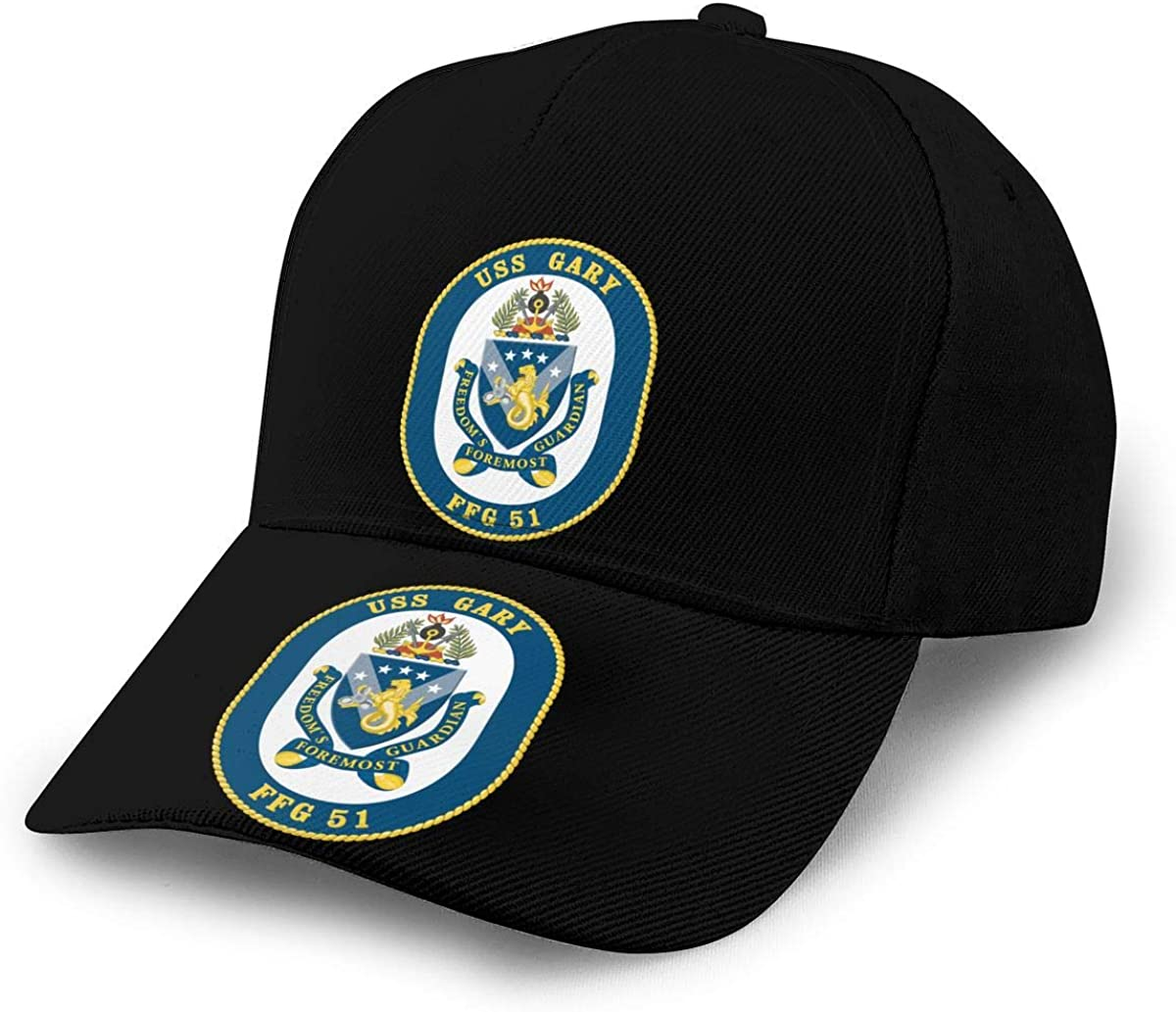US Navy Ship USS Gary FFG-51 Unisex Adult Hats Classic Baseball Caps Peaked Cap
