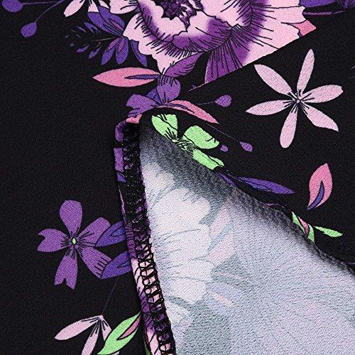 iTLOTL Women Plus Size Print Sleeveless Bandage Tank Vest Blouse Pullover Tops Shirt (US:16/CN:XXXXL, Z-Purple) by iTLOTL (Image #4)