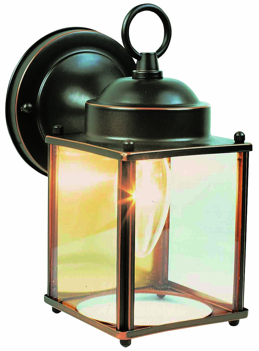 Design House 506576 Coach 1 Light Indoor/Outdoor Wall Light, Oil Rubbed Bronze