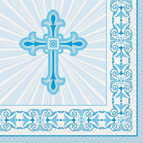 radiant-cross-blue-religious-beverage-napkins-16ct