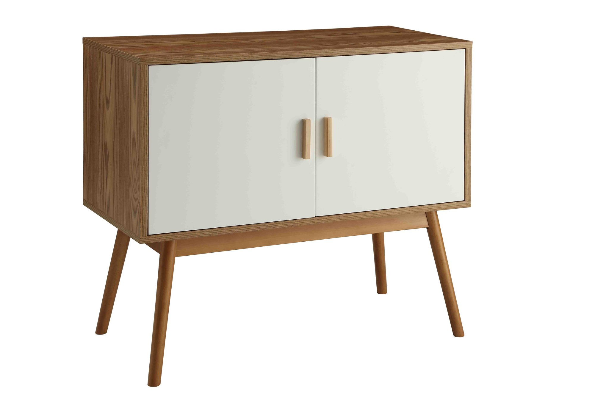 Convenience Concepts Oslo Storage Console - Two Large Cabinets with Shelf Reversible Doors Solid Wood Legs - living-room-furniture, living-room, console-tables - 61oR oq5itL -
