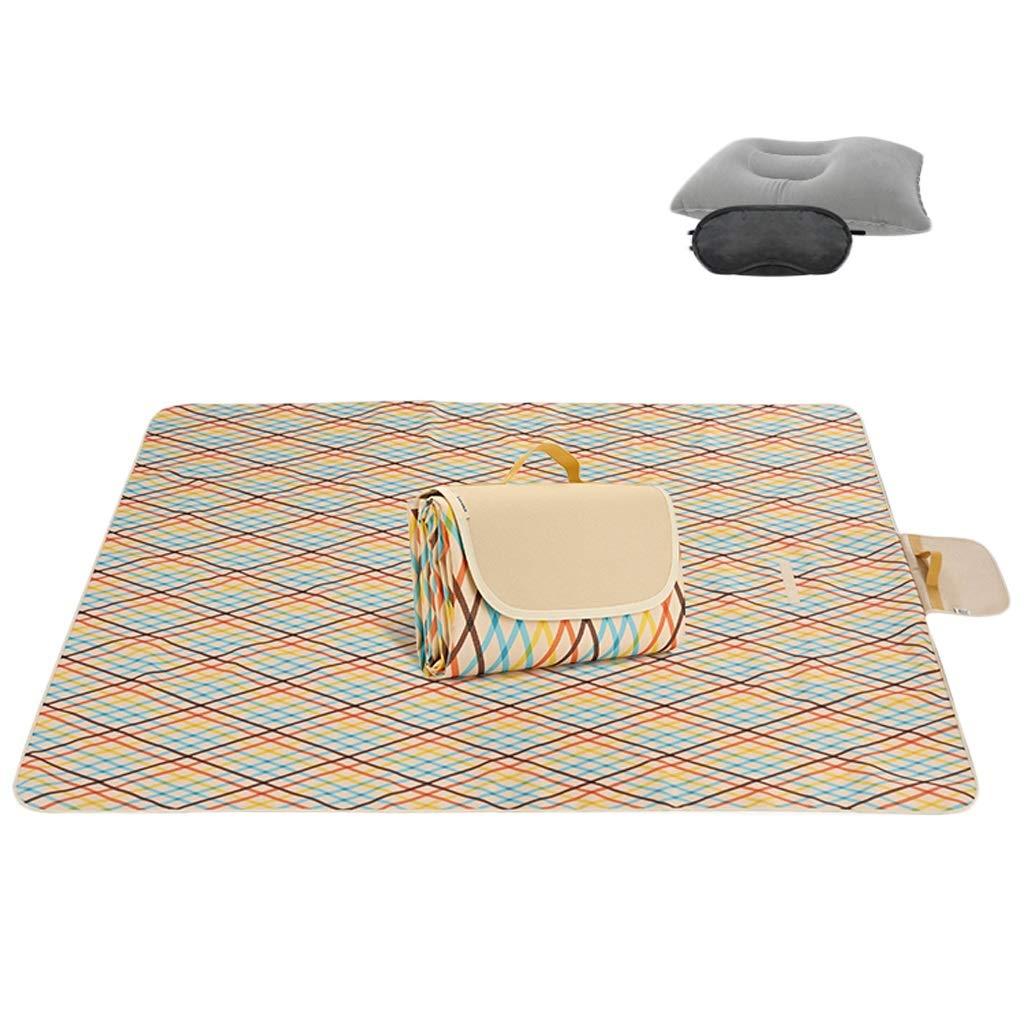 145200cm 600D Oxford tissu pique-nique couverture extérieure pliable tapis de plage tapis de pique-nique imperméable Sandproof Park Couverture famille Day Out, Voyage KKY-ENTER (Taille   195  200cm)
