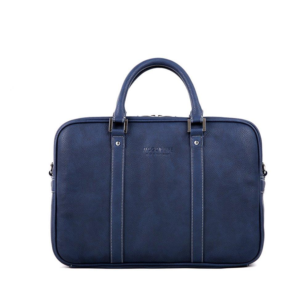Vintage Lawyers Briefcase Handbags PU Leather Messenger 13'' Laptop Briefcase
