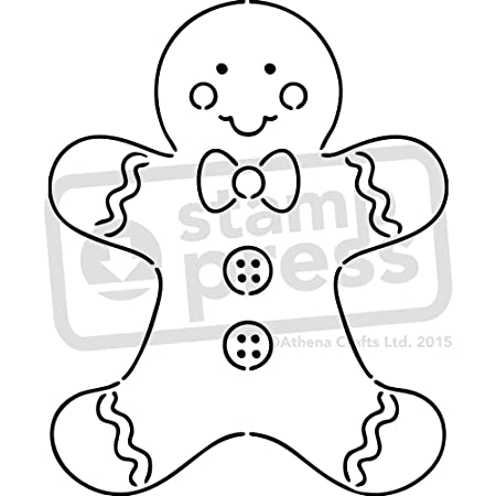 A5 Gingerbread Man Wall Stencil Template Ws00004038 By Stamp