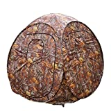 """AW Portable 1-2 Person Pop Up Hunting Blind Tent 300D with Carrying Bag 60""""x60""""x68"""" Camo Hub Polyester Fibre Outdoor"""