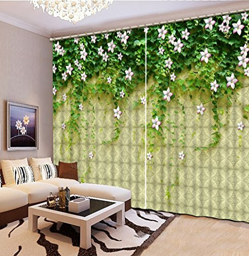 Sproud 3D Printing Curtains Lifelike Room Decorations Blackout Cortians Full Light Shading Bedroom Room Curtain 240Dropx380Wide(Cm) 2 pieces by Sproud