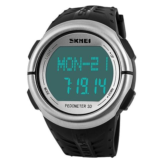 Skmei unisex para hombre/mujer Digital LED Back Light reloj monitor ...