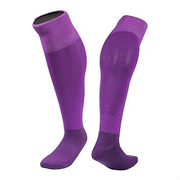 TJBGADIEMS Rodilla Calcetines de fútbol de Alto Peso Ligero de Secado rápido cómodo Deporte Socks(Púrpura): Amazon.es: Deportes y aire libre