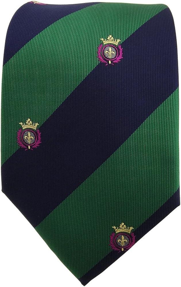 TigerTie - Corbata - verde hoja verde azul oscuro rayas motivo de ...