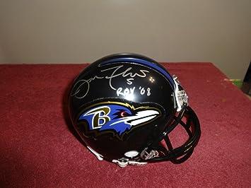 bf7df592c91 Joe Flacco Baltimore Ravens Signed Mini Helmet W JSA Authentic   Insc - Certified  Authentic