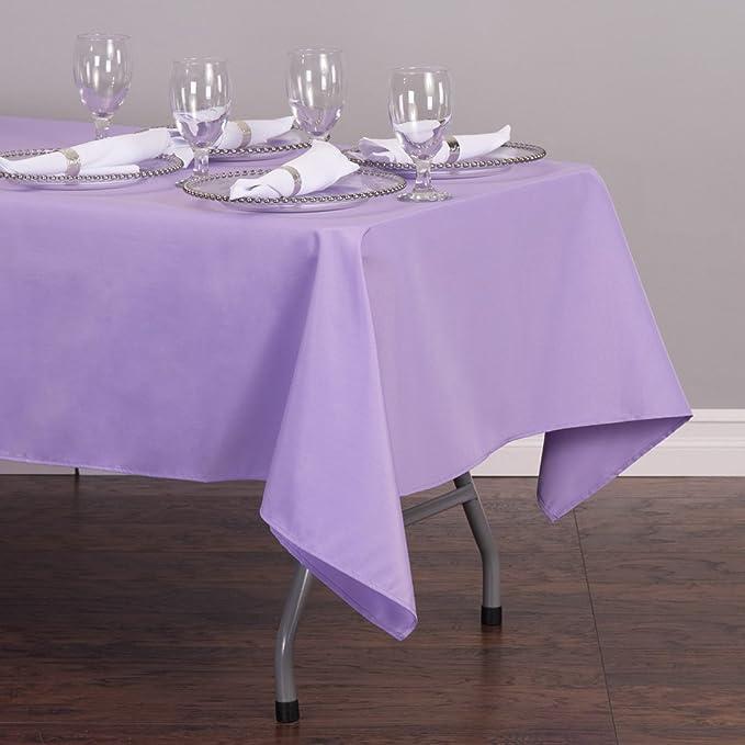 Amazon.com: LinenTablecloth 60 X 102 Inch Rectangular Polyester Tablecloth  Lavender: Home U0026 Kitchen