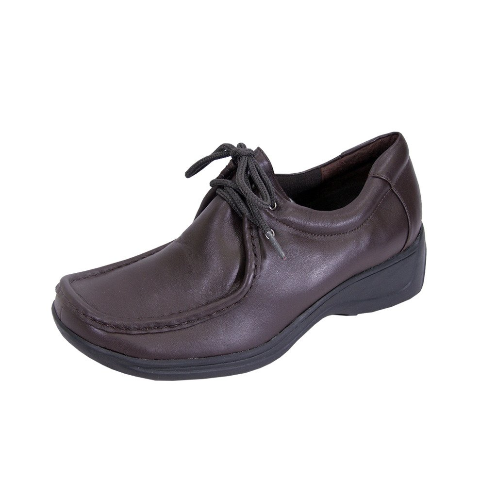 24 Hour Comfort  Kris (2901) Women Extra Wide Width Leather Shoes Brown 10
