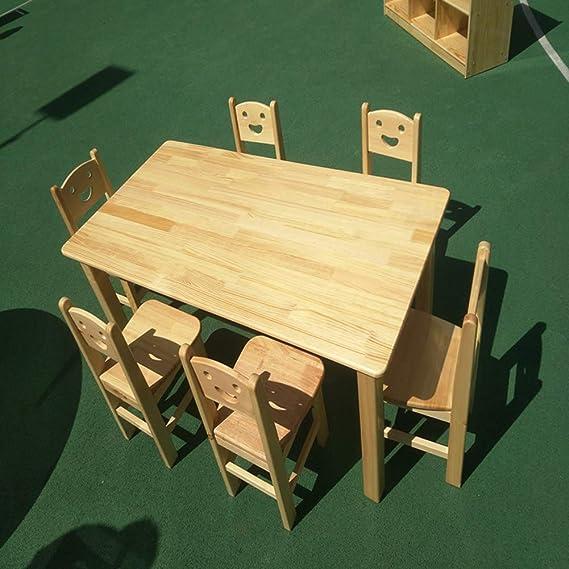 Amazon.com: Silla infantil de madera maciza Kindergarten de ...