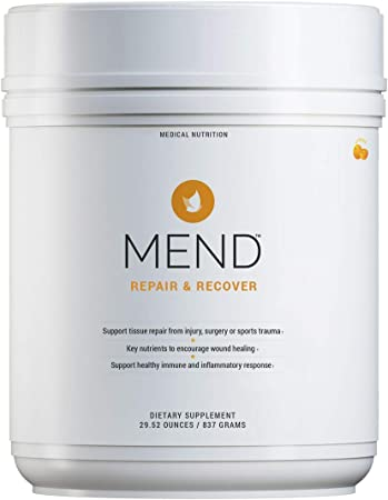 MEND Repair & Recover - Joint, Immune Support, Wound and Bone Fracture Healing Supplement, Injury and Surgery Recovery Natural, Non-GMO - Citrus Protein Powder, 30 Servings