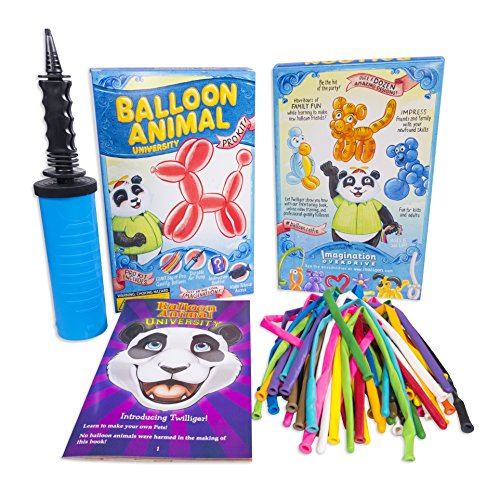 Balloon Animal University PRO Kit. Now with MORE creations! 50ct Custom Assortment with Qualatex balloons, Dbl-Action Air Pump, Book, and videos. Learn to Make Balloon Animals Kit Starter Set. ()