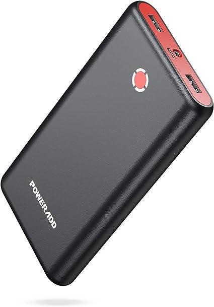 POWERADD [Versión Mejorada] Pilot X7 20000mAh Power Bank Cargador Móvil Portátil Batería Externa Carga Rapida con 2 Salidas USB 3.1A para Dispositivos ...