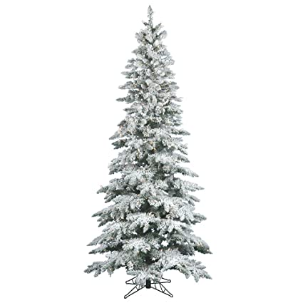 Vickerman 65 Flocked Slim Utica Fir Artificial Christmas Tree With 300 Warm White Led Lights