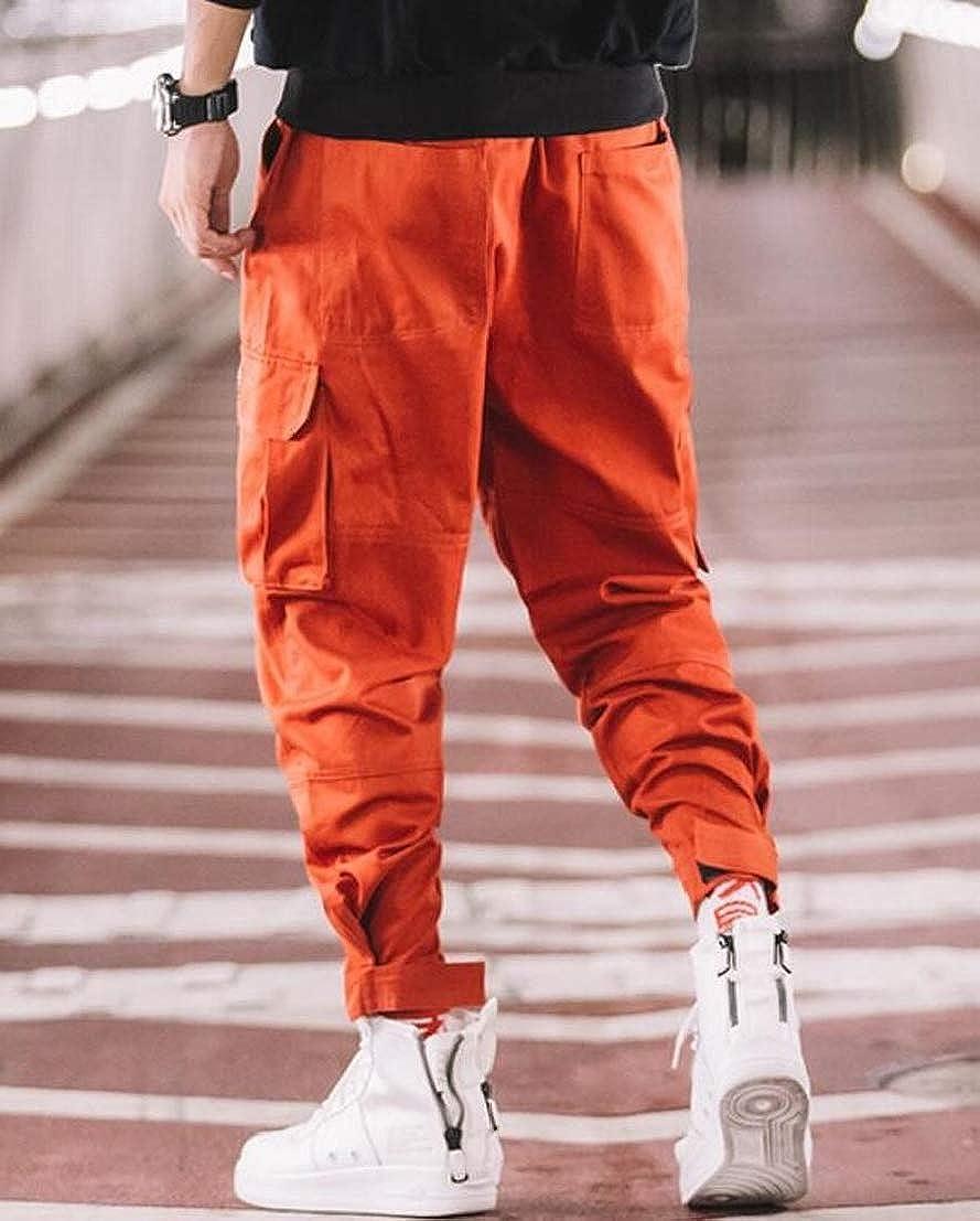 UUYUK Men Pocket Combat Casual Trousers Tracksuit Bottoms Sport Pants