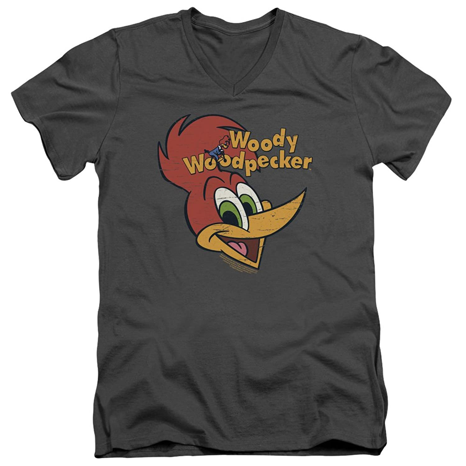 Woody Woodpecker 1940s Cartoon Character Bicycle Logo Adult V-Neck T-Shirt Tee