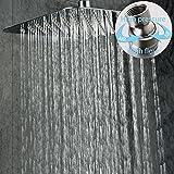 10 in rain shower head - SR SUN RISE 10 Inch Rain Shower Head Brushed 304 Stainless Steel High Pressure Rainfall Showerhead Ultra Thin Water Saving