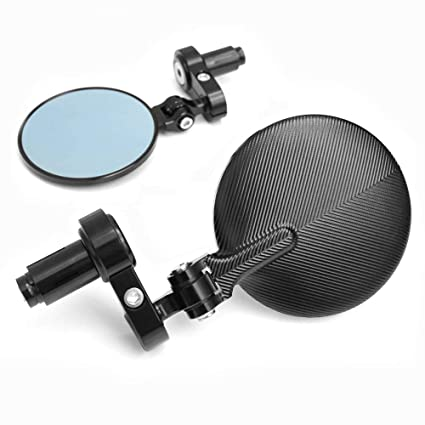 Amazon.com: Black Blue Tinted Folding CNC Bar End Mirrors ...