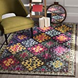 Safavieh Monaco Collection MNC244F Modern Bohemian Diamond Multicolored Area Rug (9′ x 12′) Review