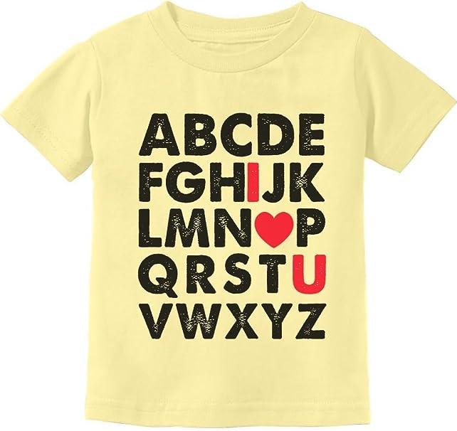 Alphabet ABC I Love You Toddler Kids T-Shirt